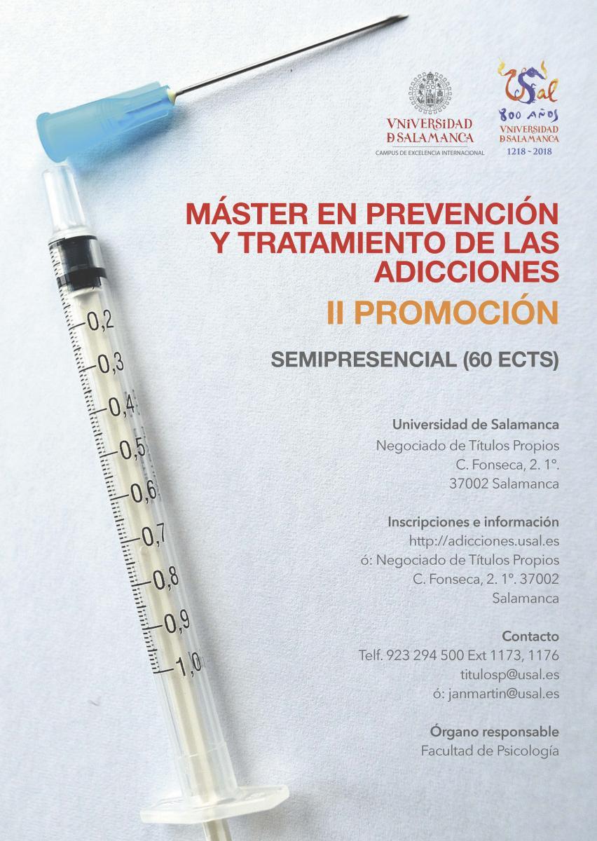 Máster en prevención y tratamiento de las adicciones (semipresencial ...